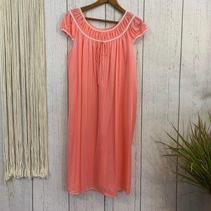 Vintage Vanity Fair Peach Night Gown